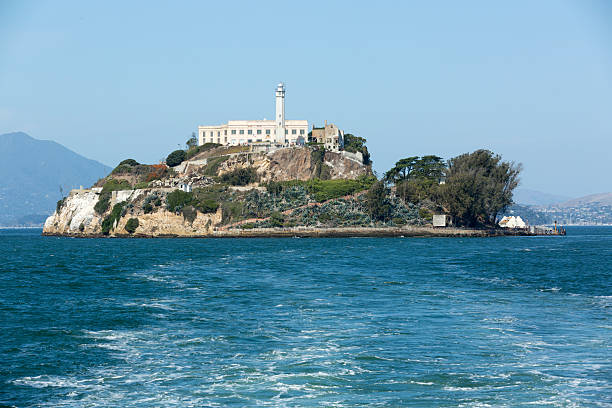 Alcatraz prison island stock photo