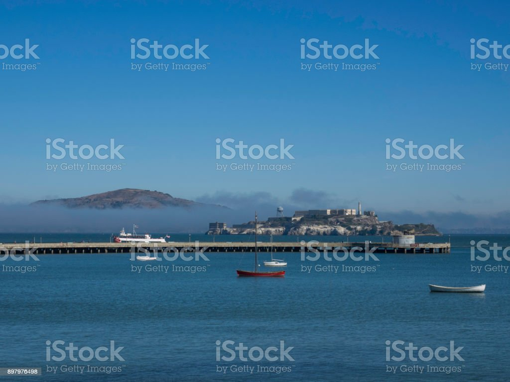 Alcatraz Prison Island stock photo