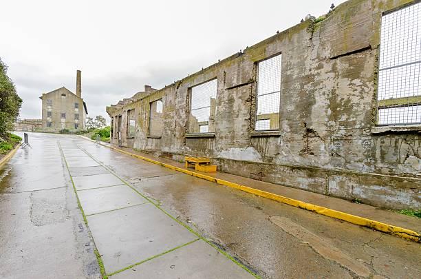 alcatraz gesellschaftliche hall, san francisco, kalifornien - pilze bestimmen stock-fotos und bilder
