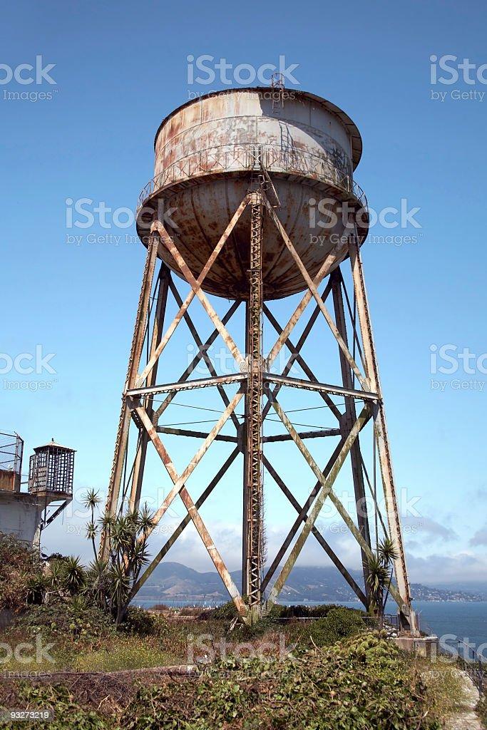 Alcatraz Water Tower stock photo