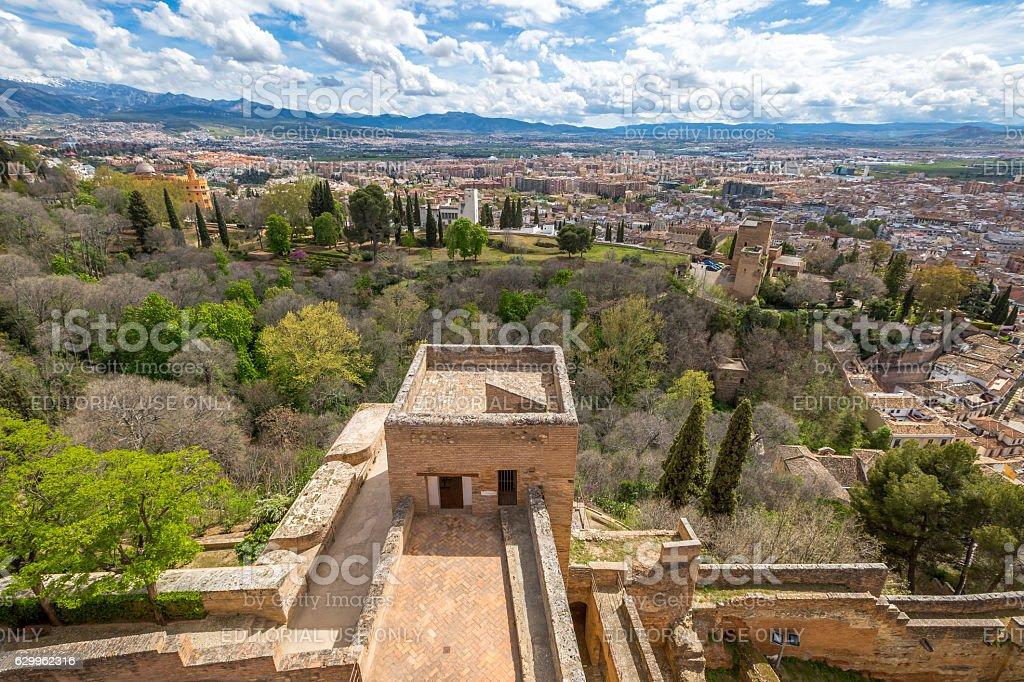 Alcazaba Alhambra de Granada stock photo