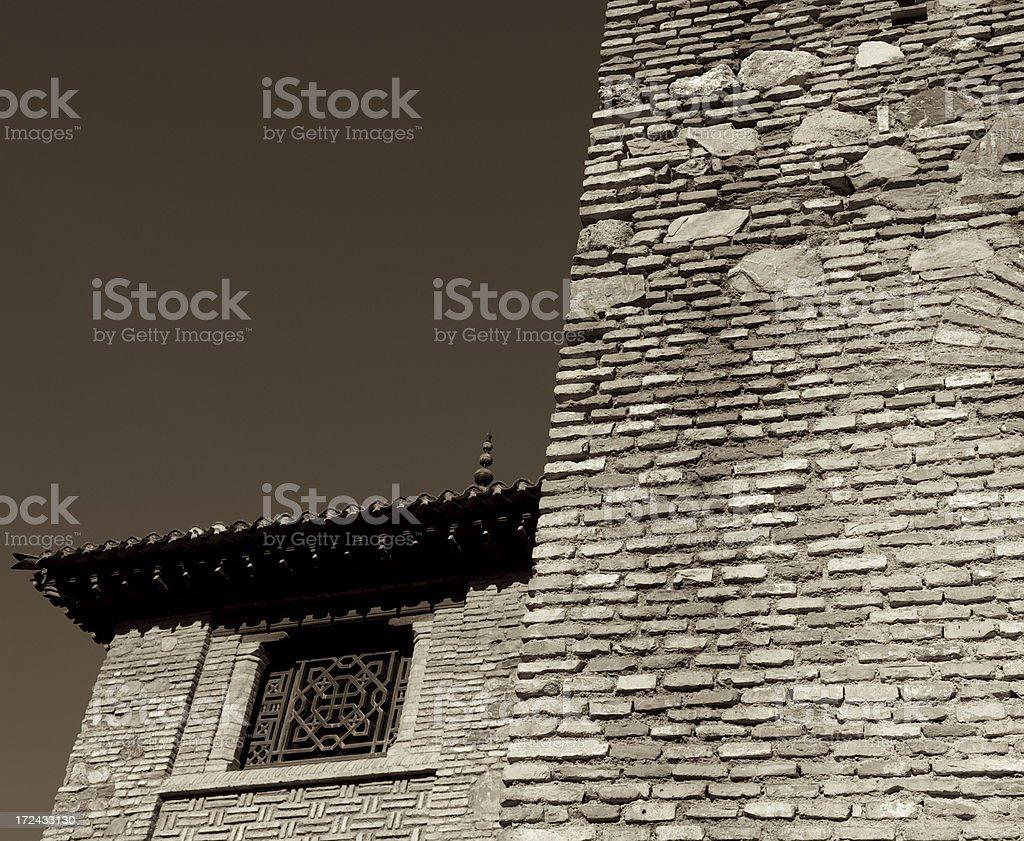 Alcazaba Architecture Detail royalty-free stock photo