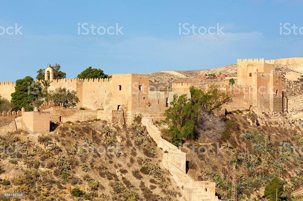 Alcazaba at Almeria, Spain stock photo