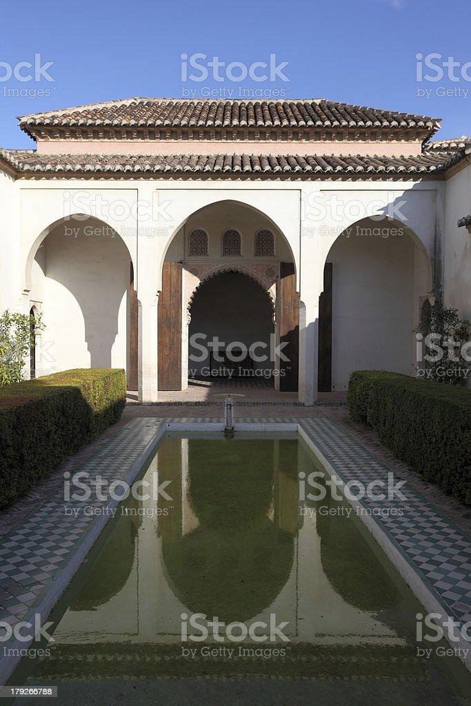 Alcazaba de Malaga. Spain royalty-free stock photo
