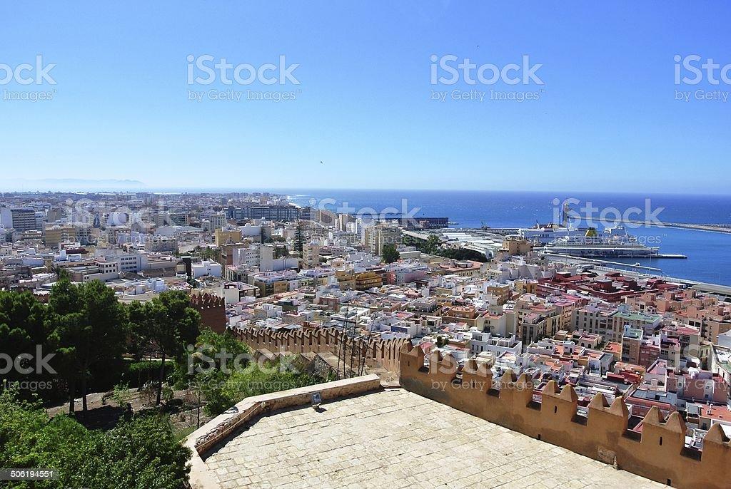 Alcazaba (fortress) in Almeria, Andalusia stock photo
