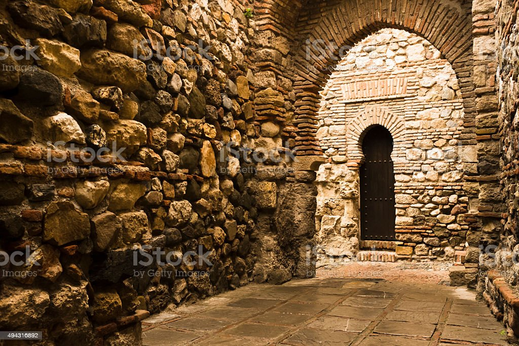 Alcazaba of Malaga, Spain stock photo