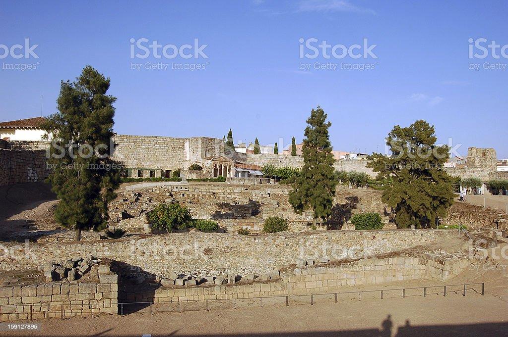 Alcazaba of Merida (Spain) royalty-free stock photo