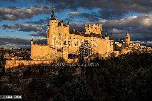 istock Alcazar Castle in Segovia, Spain at Sunset 1200023409