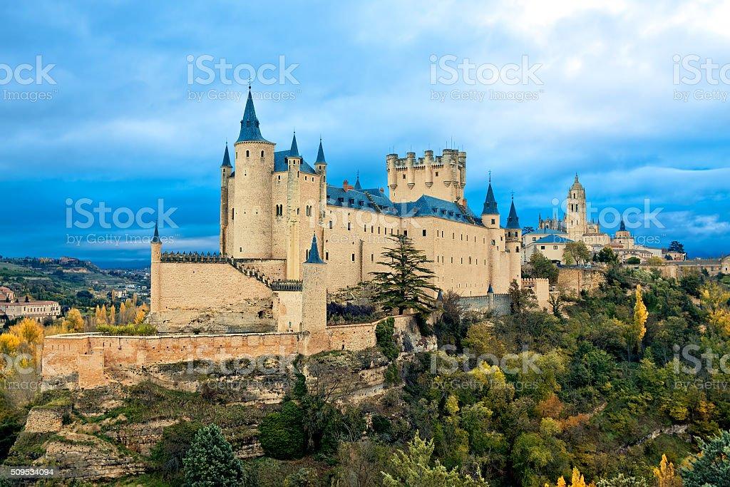 Alcazar Castle in Segovia, Spain stock photo