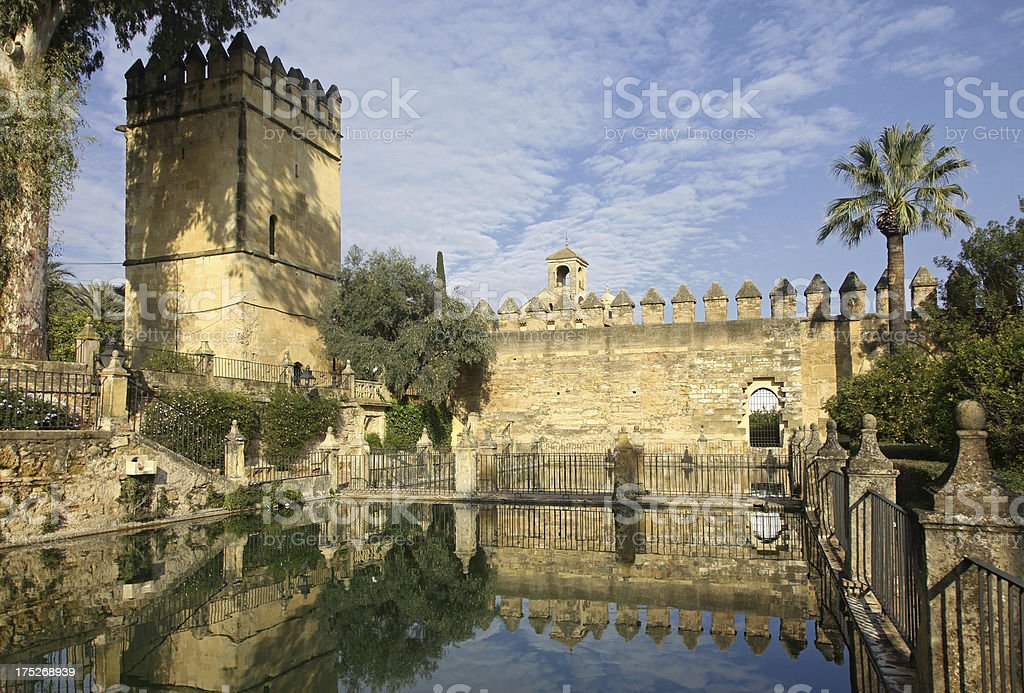 Alcazar Gardens in Cordoba royalty-free stock photo