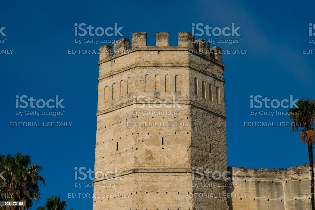 Alcazar of Jerez de la Frontera tower stock photo