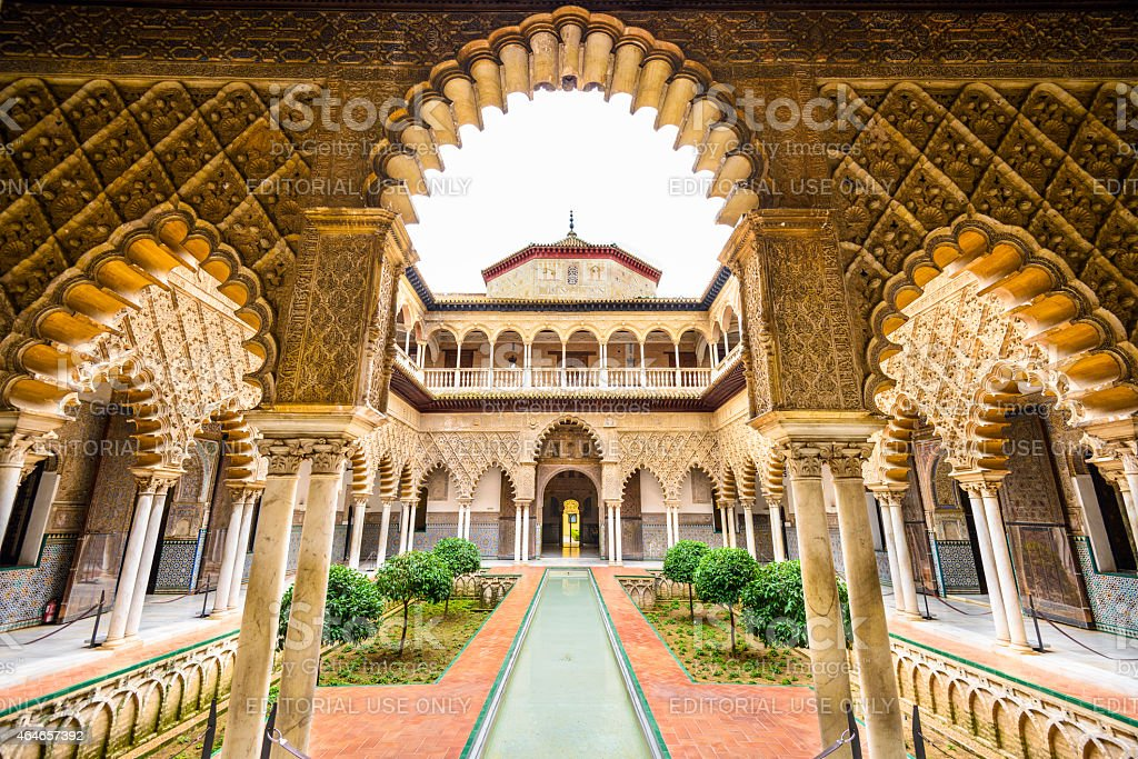 Alcazar of Seville royalty-free stock photo