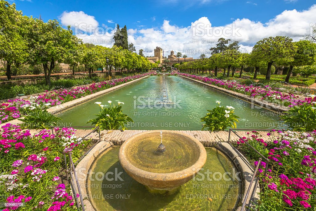 Alcazar de los Reyes Cristianos stock photo