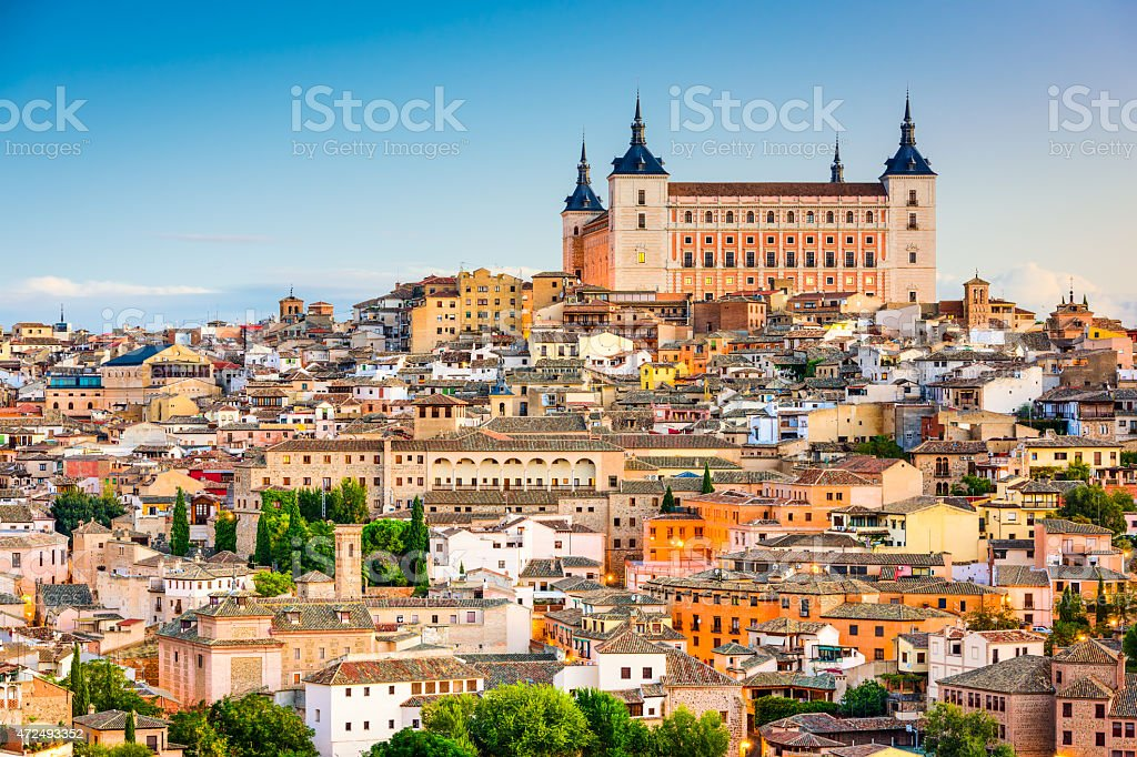 Alcazar of Toledo Spain stock photo