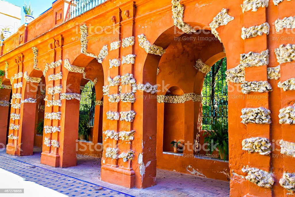 Alcazar patio stock photo