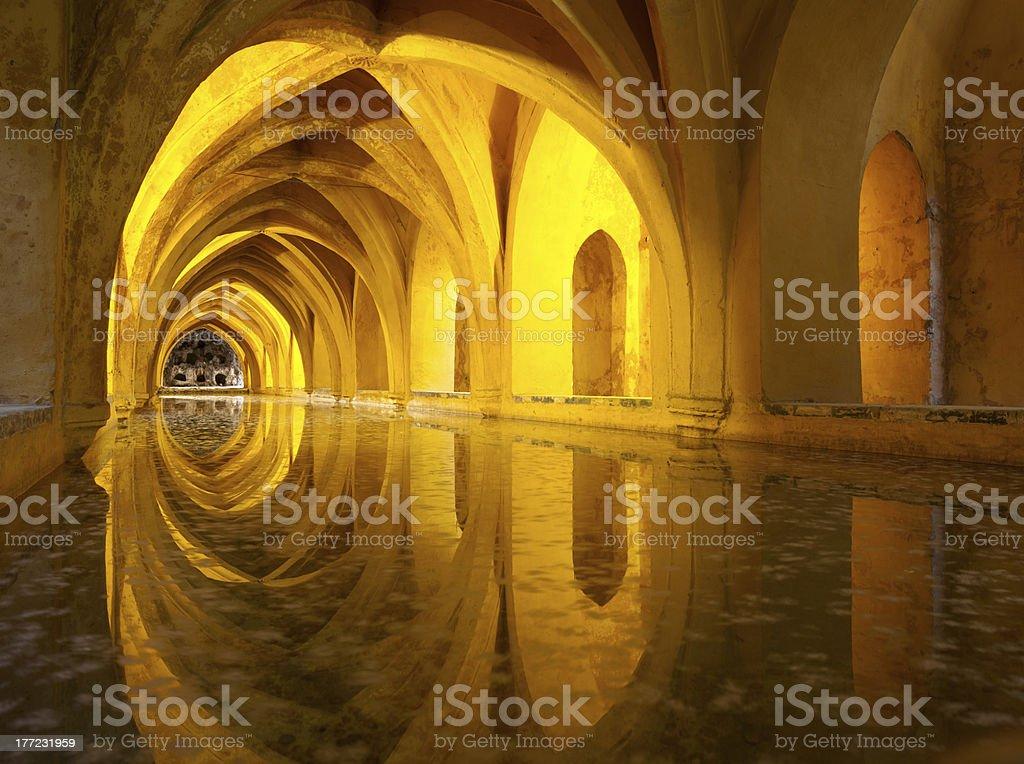 Alcazar queen's bath, Seville, Andalusia, Spain stock photo