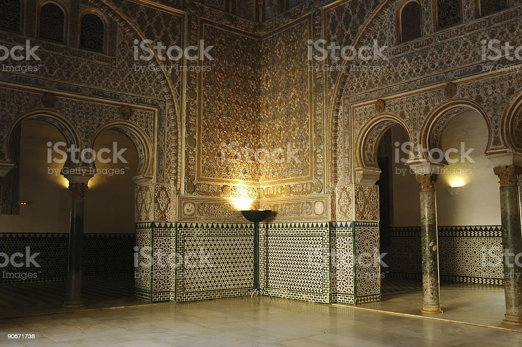 Alcazar Real royalty-free stock photo