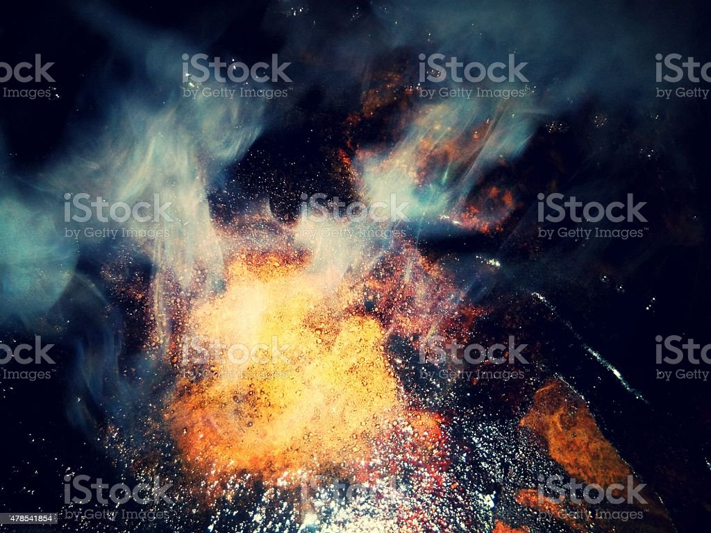 alchemical fire stock photo