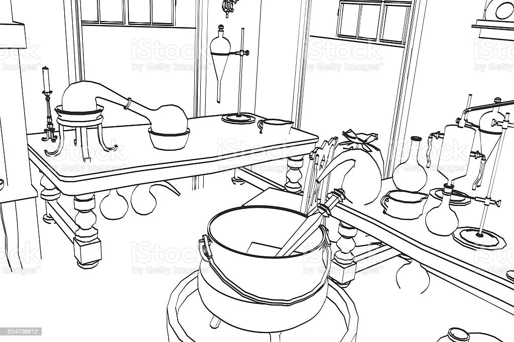 royalty free glass lab equipment cartoon pictures images and stock Lab Logo alchemy lab stock photo
