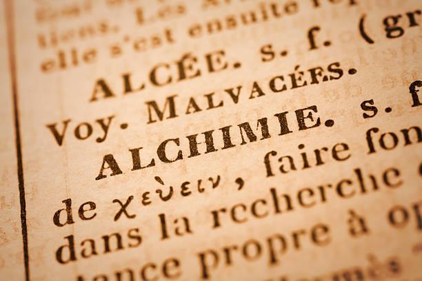 Alchimie: Wörterbuch Nahaufnahme – Foto