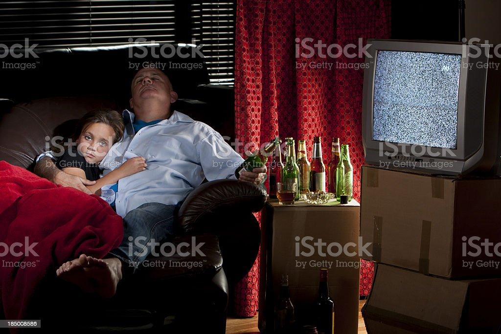 Alcohlic dad stock photo