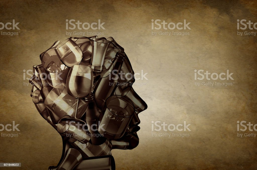 Alcohol And Depression stock photo
