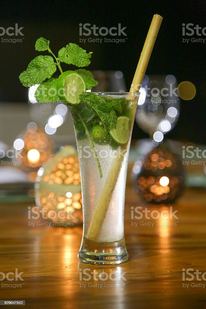 Alcohol cocktail drink on the table stock photo