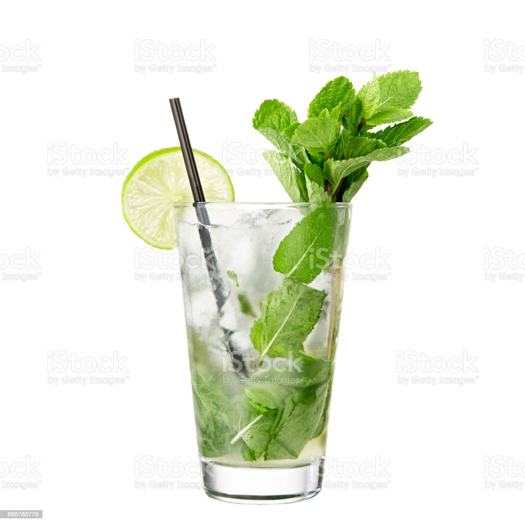alcohol cocktail mojito isolated on white background foto stock royalty-free