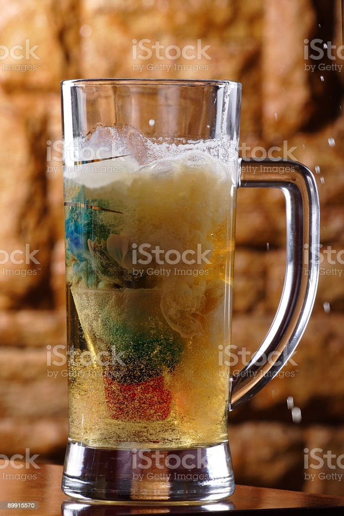 alcohol drink deep bomb royalty-free stock photo