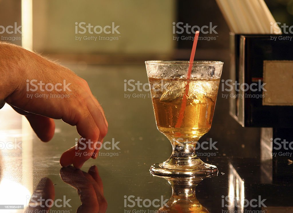 Alcohol- Drink on the bar stock photo