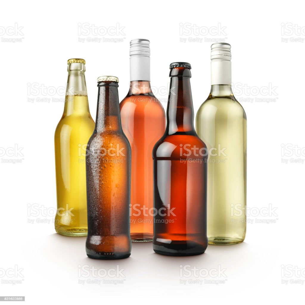 Alcohol Drinks Group stock photo