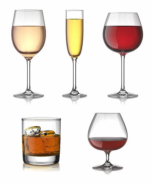 Alkoholische Getränke set. – Foto