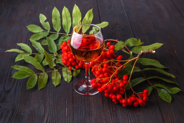 alkohol frei hausgemachte berry cordial - holunderlikör stock-fotos und bilder