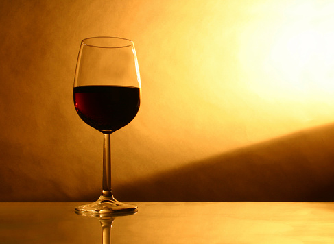 Alcohol Glass Of Red Wine Stock Photo - Download Image Now