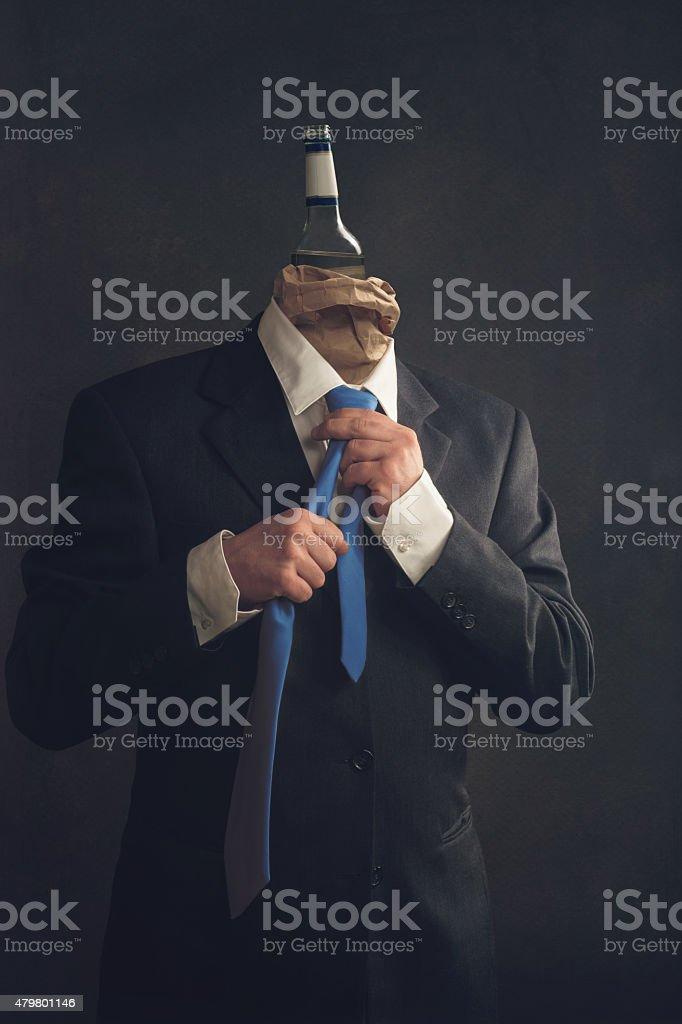 Alcohol in the workplace stok fotoğrafı