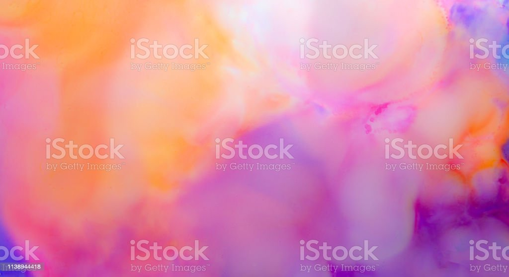 Alcohol Ink Artwork, Abstract pink, orange, blue, purple stock photo