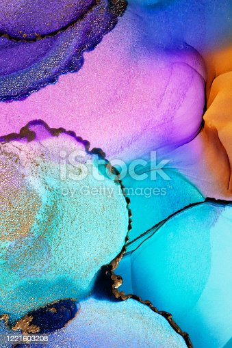1217742482 istock photo Alcohol ink modern abstract painting, modern contemporary art. Highly-textured oil paint. High quality details. 1221603208