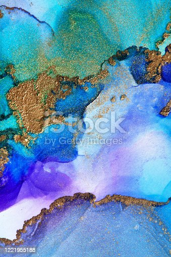 1217742482 istock photo Alcohol ink modern abstract painting, modern contemporary art. Highly-textured oil paint. High quality details. 1221955188