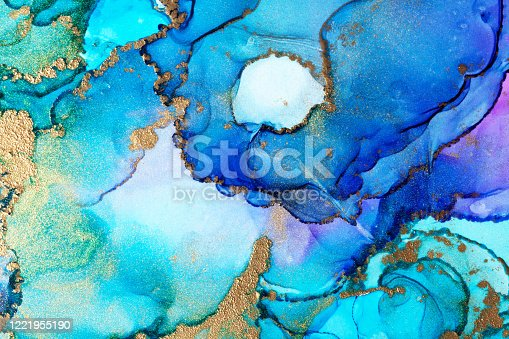 1217742475 istock photo Alcohol ink modern abstract painting, modern contemporary art. Highly-textured oil paint. High quality details. 1221955190