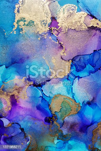 1217742482 istock photo Alcohol ink modern abstract painting, modern contemporary art. Highly-textured oil paint. High quality details. 1221955211