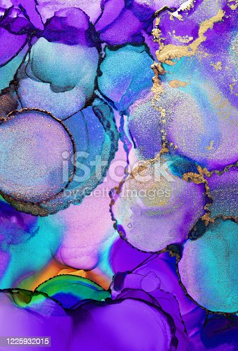 1217742482 istock photo Alcohol ink modern abstract painting, modern contemporary art. Highly-textured oil paint. High quality details. 1225932015