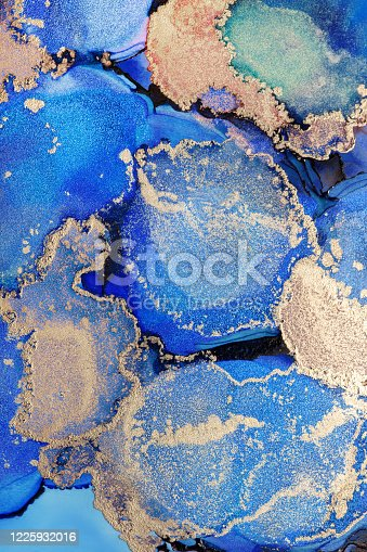 1217742482 istock photo Alcohol ink modern abstract painting, modern contemporary art. Highly-textured oil paint. High quality details. 1225932016