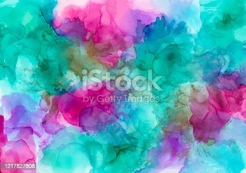 852187968 istock photo Alcohol ink painting 1217827808