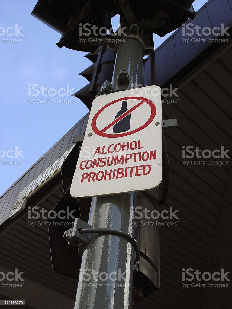 Alcohol no-no royalty-free stock photo