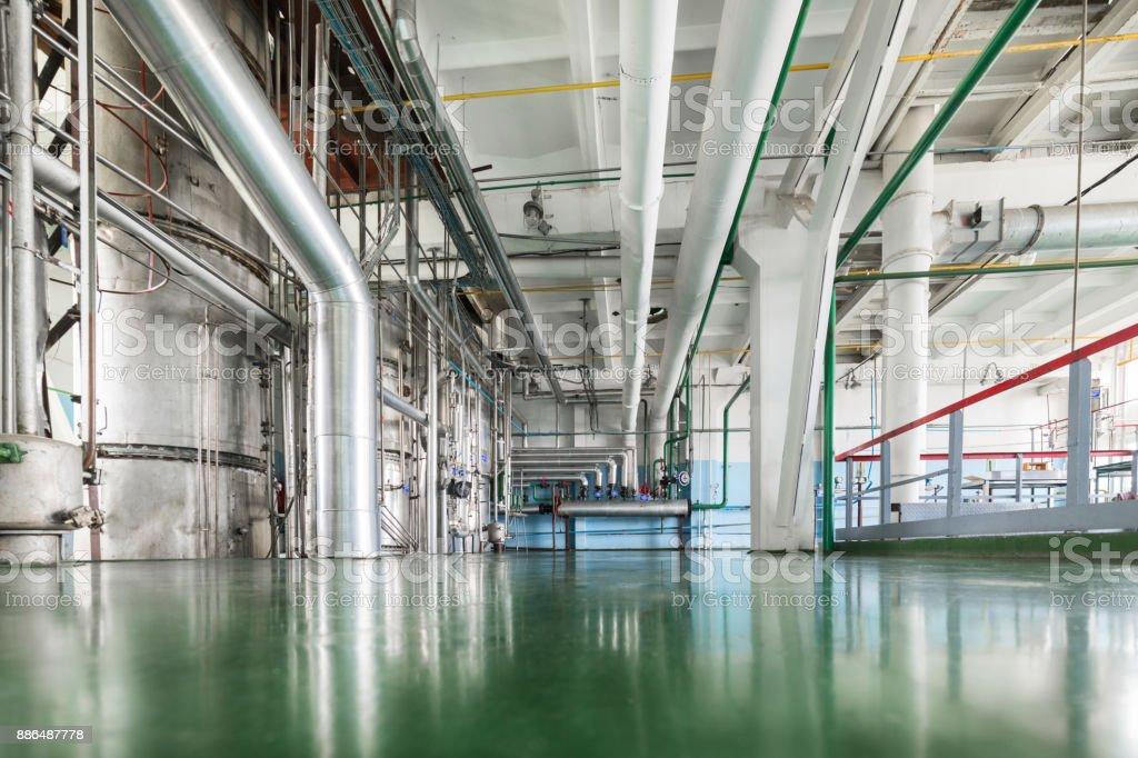 Alcohol production plant stock photo