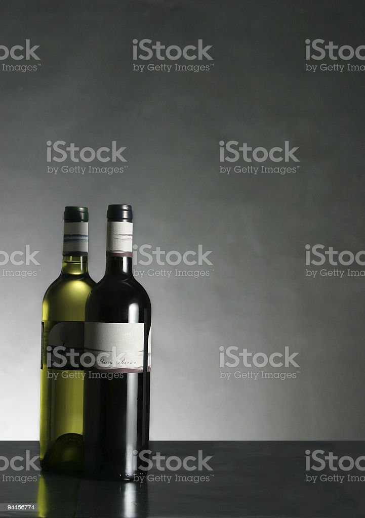 Alcohol - Red & White Wine royalty-free stock photo