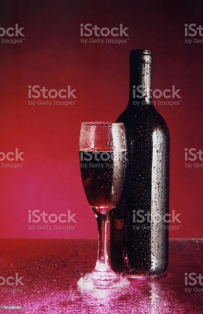 Alcohol - Red Wine Chilled royalty-free stock photo