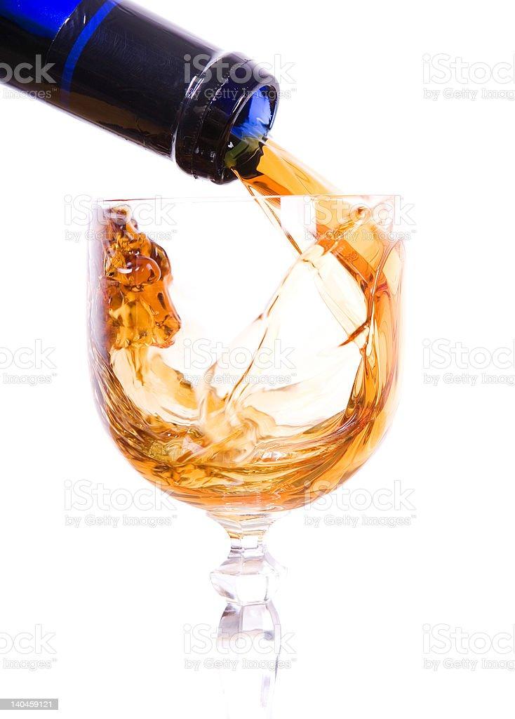 Alcohol splash royalty-free stock photo
