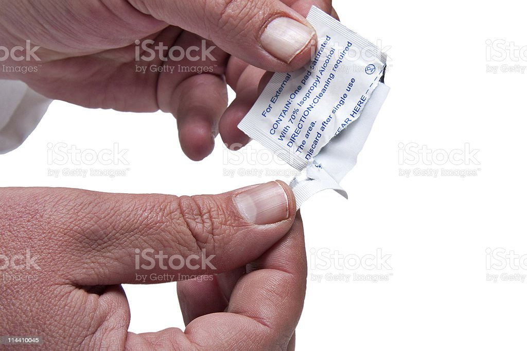 alcohol swab stock photo