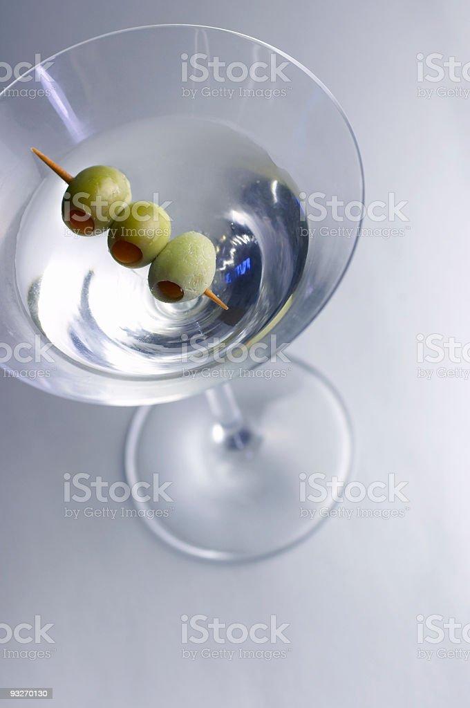 Alcohol - Three Martini Olive royalty-free stock photo